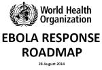 WHO - Ebola Roadmap